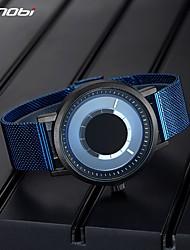 cheap -Sinobi New Unique Rotate Creative Watch Men's Steel Mesh Band Quartz Wristwatches Sports Casual Blue Male Watches Reloj Hombre