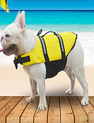 cheap -Pet Life Jacket  Dog Cat Dog clothes Casual Daily Casual / Daily Dog Clothes Puppy Clothes Dog Outfits Orange Costume for Dog Polyester S