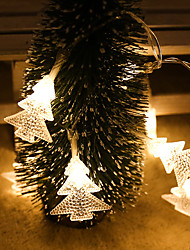 cheap -Christmas Tree Shaped LED Fairy String Lights 1.5M 3M 6M Christmas Garland Lights Battery Operation Christmas Garden Holiday Party Decoration