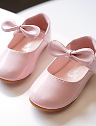cheap -Girls' Flats Flower Girl Shoes Princess Shoes Patent Leather Little Kids(4-7ys) Wedding Casual Magic Tape Light Pink White Fall Spring