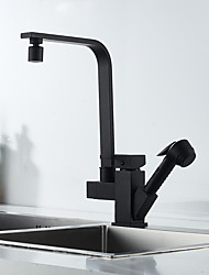 cheap -Kitchen faucet - Single Handle Two Holes Painted Finishes Pull-out / Pull-down / Standard Spout / Tall / High Arc Centerset Contemporary / Antique Kitchen Taps