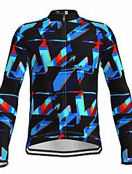 cheap -21Grams Men's Long Sleeve Cycling Jersey Spandex Blue Bike Top Mountain Bike MTB Road Bike Cycling Quick Dry Moisture Wicking Sports Clothing Apparel / Athleisure