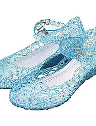 cheap -Princess Cinderella Elsa Masquerade Jelly Shoes Girls' Movie Cosplay Party Boutique Unusual Purple Red Blue Shoes Carnival Masquerade PVC(PolyVinyl Chloride) / Classic Lolita / Country Lolita