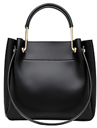cheap -Women's Bags PU Leather Crossbody Bag Top Handle Bag Zipper Plain Daily Going out Leather Bag Handbags Yellow Dark Green Black Brown