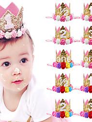 cheap -Children's Flower Crown Headband Baby Birthday Party Show Photo Headdress