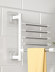 cheap -Bathroom Rotation Towel Storage Rack Punch-Free Stainless Steel Organizer Shelf Hanging Wall Shelves Suction Cup Toilet Holder