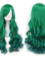 """cheap -curly cosplay wig long hair heat resistant spiral costume wigs anime fashion wavy curly cosplay daily party mint green 32"""" 80cm"""