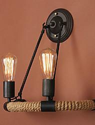 cheap -Cute Vintage Indoor Bedroom Office Hemp Rope Wall Light LED IP24 110-240 V