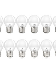 cheap -12pcs 6 W LED Globe Bulbs 550 lm E27 G45 20 LED Beads SMD 2835 Decorative Warm White Cold White 220-240 V 110-130 V