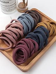 cheap -100pcs Girls Solid Color Big Rubber Band Ponytail Holder Gum Headwear Elastic Hair Bands Korean Girl Hair Accessories Ornaments