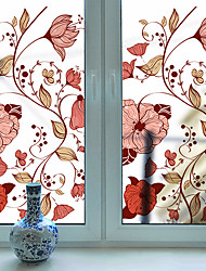 cheap -Frosted Privacy Fashion Flower Pattern Window Film Home Bedroom Bathroom Glass Window Film Stickers Self Adhesive Sticker 116 x 60CM Wall Stickers for Bedroom Living Room