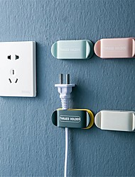 cheap -Cable Clip Organizer Wall Creative Plug Hook Cable Holder Free Punching Practical Home Wall Mount Wire Storage Device Home