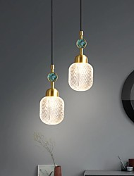 cheap -Modern Simple Fashion Nordic Style Bedroom Lamp All Copper Bar Creative Single Head Long Line Chandelier PendantLight
