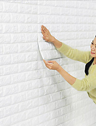 cheap -Wallpaper Wall Covering Sticker Peel and Stick Removable Faux Brick 3D PE Home Decor 70*77cm