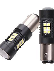 cheap -10pcs 4pcs 2pcs 5 W LED Corn Lights 500 lm 1157 21 LED Beads SMD 3030 White Red Yellow 12-24 V