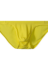 cheap -Men's Basic Simple Pure Color Briefs Underwear Micro-elastic Low Waist Blue M / Fashion
