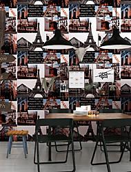 cheap -Wallpaper Wall Covering Sticker Film Retro Landscape Vinyl PVC Home Decor 53*1000cm