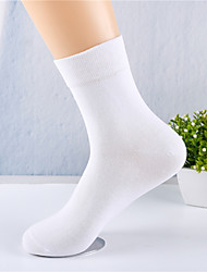 cheap -Comfort Men's Socks Solid Colored Socks Warm Daily White 1 Pair