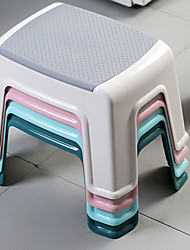 cheap -Plastic Low Bench Toilet Bath Mat Feet Non-slip Stool Household Children's Learning Adult Small Shoe Changing Stool