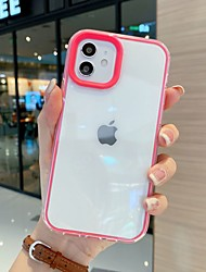 cheap -Phone Case For Apple Back Cover iPhone 13 12 Pro Max 11 SE 2020 X XR XS Max 8 7 6 Shockproof Dustproof Solid Colored Silicone