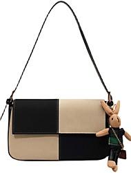 cheap -Women's Bags PU Leather Crossbody Bag Top Handle Bag Buttons Cartoon Plain Vintage Daily Outdoor Retro Leather Bag Handbags Black Brown