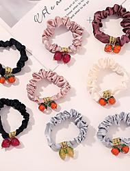 cheap -8 Pcs/set Ins Hair Ring Coloured Glaze Beads Large Intestine Hair Ring Fruit Pendant Tie Hair Horsetail Head Rope Hair Woman