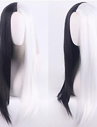 cheap -101 Dalmatians Cruella De Vil Cosplay Wigs Women's Middle Part / Heat Resistant Fiber Natural Straight Black Adults' Anime Wig