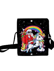 cheap -Unisex Bags Oxford Cloth Crossbody Bag Zipper Daily Outdoor 3D Print Black
