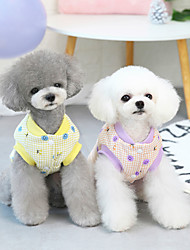 cheap -pet clothes dog clothes autumn and winter clothes cotton-padded clothes teddy small dog pet clothes winter 21 smiley cotton vest