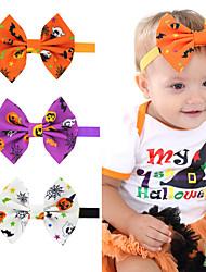 cheap -3 pcs/set Halloween Children's Dress up Headgear Children's Pumpkin Head Elastic Bow Headband Halloween Headgear