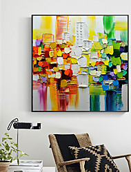 cheap -Oil Painting Handmade Hand Painted Wall Art Palette Knife Painting Color Fantasy Home Decoration Decor Stretched Frame Ready to Hang