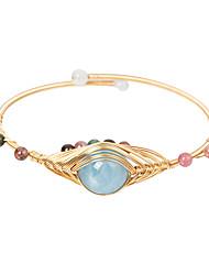 cheap -Women's Gemstone Cuff Bracelet Bracelet Classic Mini Simple Luxury Classic Copper Bracelet Jewelry Rainbow For Gift Daily Club / 14K Gold