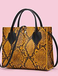 cheap -Women's Bags PU Leather Crossbody Bag Top Handle Bag Crocodile Daily Date Retro Handbags Wine Blushing Pink White Brown