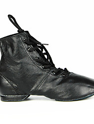cheap -Women's Jazz Shoes Modern Shoes Dance Boots Flat Oxford Flat Heel Round Toe Black Lace-up Adults'