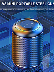 cheap -MC-V8 Small Steel Cannon Wireless Bluetooth Speaker Subwoofer Mobile Phone Mini Player Outdoor Portable Portable High Volume