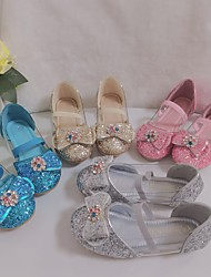cheap -Girls' Flats Flower Girl Shoes Princess Shoes Patent Leather Big Kids(7years +) Little Kids(4-7ys) Wedding Daily Sequin Sequins Pink Silver Gold Fall Winter