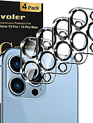 """cheap -[4 pack]ivoler camera lens protector designed for iphone 13 pro max 6.7""""/13 pro 6.1"""" screen protector tempered glass,[case friendly][new version][scratch-resistant][easy installation] -black circle"""