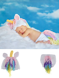 cheap -New Baby Pony Unicorn Photography Clothing Suit Handmade Woolen Knitting Clothing Baby Photo Styling Suit
