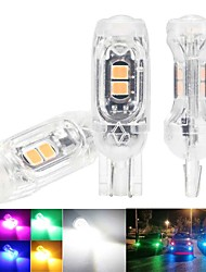 cheap -2PCS T10 W5W New 2835 High Quality 5 Led Car Side Light Marker Lamp  Auto Wedge Parking Bulb License Plate Reading Dome  Lights