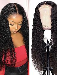 cheap -150% 180% 13x6 Lace Wave Lace Front Wig For Black Women Brazilian Short Long Bob  Closure Deep Wave Human Frontal Wig Curly Human Hair Wigs