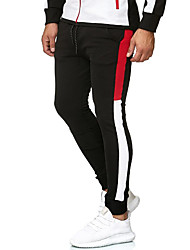 cheap -Men's Casual / Sporty Outdoor Sports Pants Chinos Casual Sports Pants Solid Color Full Length Drawstring Elastic Waist Army Green Royal Blue White Black Red