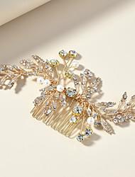 cheap -Romantic Wedding Alloy Hair Combs / Headdress / Headpiece with Imitation Pearl / Metal / Crystals / Rhinestones 1 PC Wedding / Special Occasion Headpiece