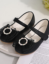 cheap -Girls' Flats Flower Girl Shoes Patent Leather Little Kids(4-7ys) Flower Silver Black Fall Spring