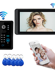 cheap -7inch Wireless Wifi Video Intercom System for Home Video Intercom Support Password RFID Face recognition Unlock Record Door Camera