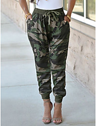 cheap -Women's Fashion Casual / Sporty Pants Chinos Casual Pants Camouflage Full Length Print Camouflage