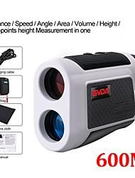 cheap -GVDA  GD600A Telescope Laser Rangefinder 6x Laser Distance Meter Tape Measure 600m Range Finder for Golf Hunting Sport