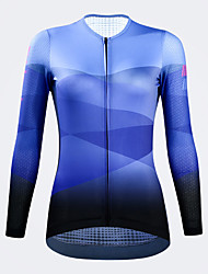 cheap -21Grams Women's Long Sleeve Cycling Jersey Spandex Dark Green Blue Dark Navy Bike Top Mountain Bike MTB Road Bike Cycling Quick Dry Moisture Wicking Sports Clothing Apparel / Stretchy / Athleisure