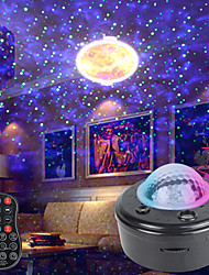 cheap -LED Star Galaxy Projector Ocean Wave Night Light Planet Projector Remote Control Music Player Room Party Decor Lamp Gifts