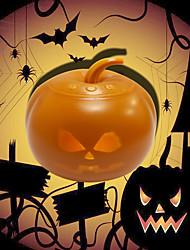 cheap -Halloween Light Pumpkin Shape Night Light Halloween Decoration Light Can Play Halloween Animation USB Connection