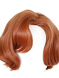 cheap -Halloween Costumes Beth Harmon Wig Queens Gambit Wig Short Brown Curly Wig Auburn Hair Ginger Orange Wavy Wig Blonde Hair Cosplay Costume Accessories